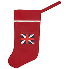 Buy Cambric and Cream Union Jack Stocking, Red Online at johnlewis.com