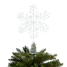 Buy John Lewis Glitter Snowflake, White Online at johnlewis.com