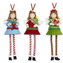 Buy John Lewis Wobbly Angel Decoration, Assorted Online at johnlewis.com
