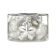 Buy John Lewis Glass Star Decorations, Silver/White, x12 Online at johnlewis.com