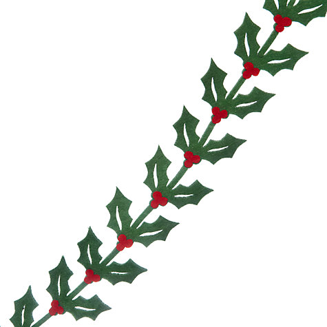 Buy John Lewis Holly Felt Garland, Red/Green, L1.8m Online at johnlewis.com