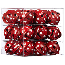 Buy John Lewis Polka Dot Mini Bell Decoration Pack, Red, x27 Online at johnlewis.com
