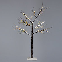 Buy John Lewis Outdoor Prelit Snowy Paper Christmas Tree, 4ft Online at johnlewis.com