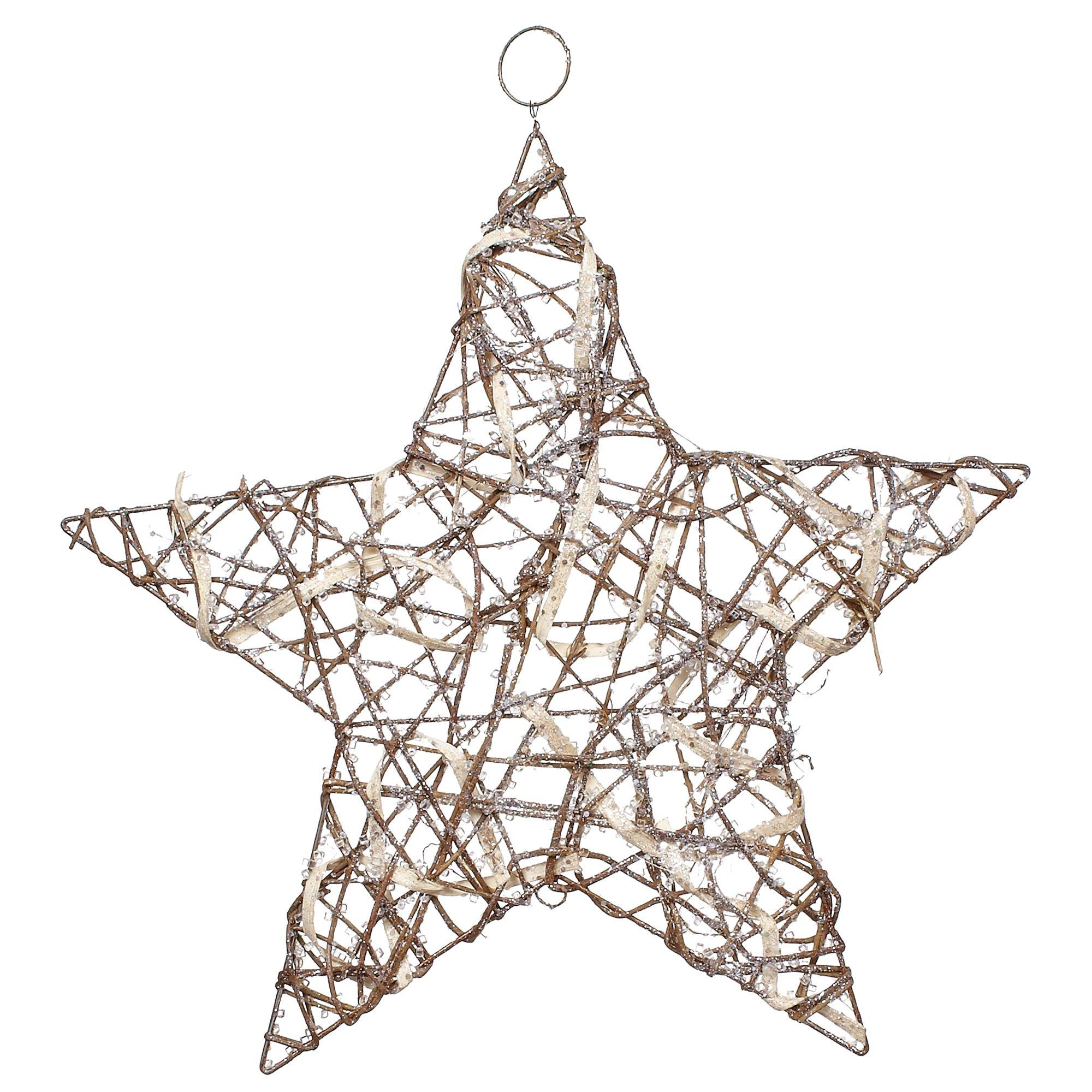 John Lewis Glitter Star, Natural