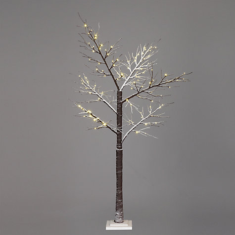 "Buy John Lewis Prelit Snowy Paper Christmas Tree, 6ft 8"" Online at johnlewis.com"