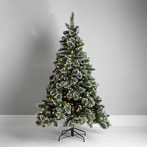 Buy John Lewis Pre-lit LED Glitter Tip Christmas Tree, Green, 7ft Online at johnlewis.com