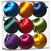 Buy John Lewis Satin Bauble Pack, x9 Online at johnlewis.com