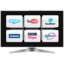 "Buy Panasonic Viera TX-L55WT50 LED HD 1080p 3D Smart TV, 55"", Freeview/Freesat HD, 2x 3D Glasses with FREE Blu-ray Player Online at johnlewis.com"