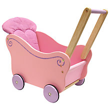Buy I'M TOY Dollie Pram, Pink Online at johnlewis.com
