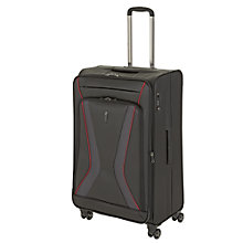 Buy John Lewis City 4-Wheel Medium Spinner Suitcase, Black/Red Online at johnlewis.com