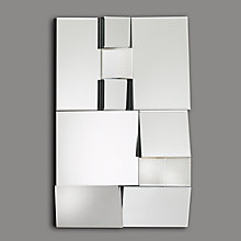 Buy John Lewis Facet Rectangle Mirror, 80 x 58cm Online at johnlewis.com
