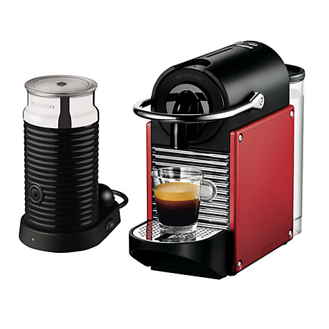 Buy Nespresso Pixie Carmin Coffee Maker and Aeroccino by Magimix, Red Online at johnlewis.com