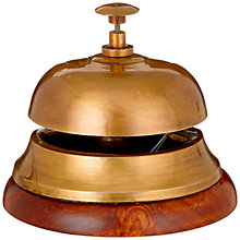 Buy John Lewis Brass Wood Bell Online at johnlewis.com