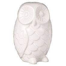 Buy John Lewis Ceramic Owl, White Online at johnlewis.com