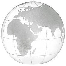 Buy John Lewis Globe Glass Paperweight, White, Large Online at johnlewis.com