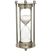 Buy John Lewis Metal Stand Sand Timer, 5 Minutes, Small Online at johnlewis.com