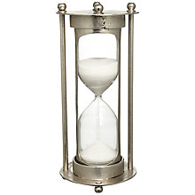 Buy John Lewis Sand Timer in Metal Stand, 10 Minutes, Large Online at johnlewis.com