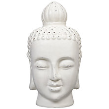 Buy John Lewis Buddha Head, White, Small Online at johnlewis.com
