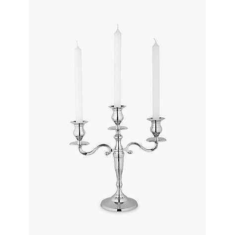 Buy John Lewis Nickel Candelabra, 3 Arm Online at johnlewis.com