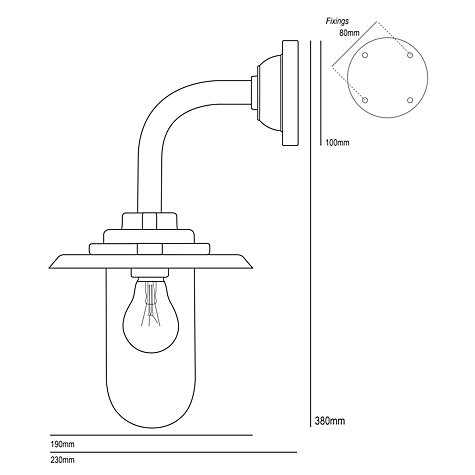 Buy Davey Lighting Exterior Bracket Wall Light, 60W Online at johnlewis.com