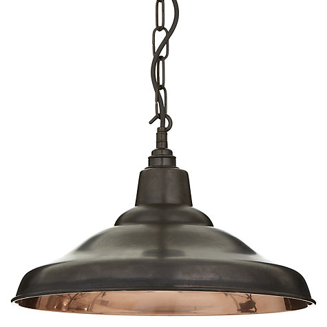 Buy Davey Lighting School Ceiling Light, Copper Online at johnlewis.com