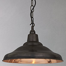 Buy Davey School Ceiling Light, Copper Online at johnlewis.com