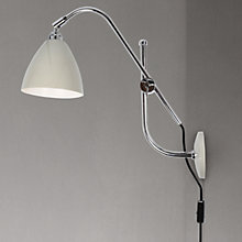 Buy Original BTC British Task Wall Light, Putty Online at johnlewis.com