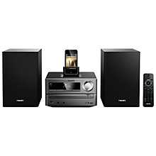 Buy Philips DCB2020 DAB/FM Micro System with iPad/iPod/iPhone Dock, Black Online at johnlewis.com