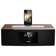Buy Philips DCB852 DAB/FM/CD Clock Radio iPod/iPhone/iPad Dock Online at johnlewis.com