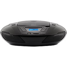 Buy John Lewis Frontier II Wireless FM/CD Radio, Black Online at johnlewis.com
