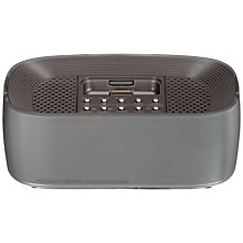 Buy John Lewis Quantum II Clock Radio iPod Dock, Silver Online at johnlewis.com