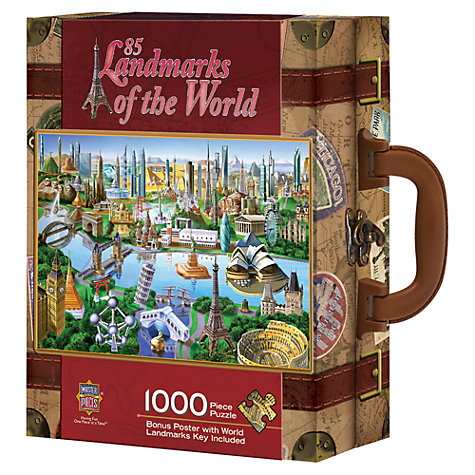 Buy Masterpieces Landmarks of the World Suitcase Jigsaw Puzzle Online at johnlewis.com