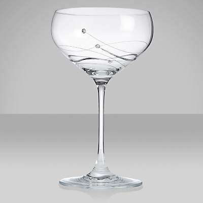 Dartington Crystal Glitz Champagne Saucer, 0.3L, Set of 2