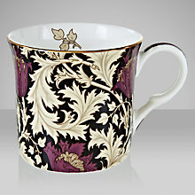 Buy William Morris Anemone Mug, Set of 2, Black Online at johnlewis.com