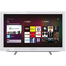 Buy Sony Bravia KDL22EX553 LED HD 720p Smart TV, 22 Inch with Freeview HD, White Online at johnlewis.com