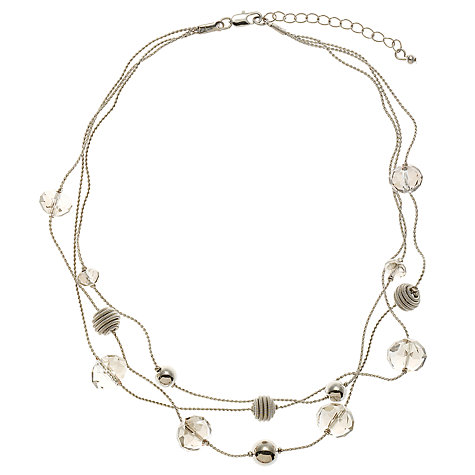 Buy John Lewis Coil & Glass Acrylic Bead Illusion Necklace Online at johnlewis.com