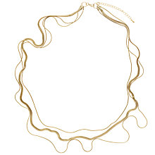 Buy John Lewis 3-Row Long Necklace, Gold Online at johnlewis.com
