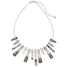 Buy John Lewis Hammered Metal Wire Bars Short Necklace, Silver Online at johnlewis.com