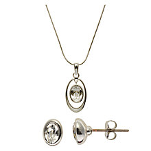 Buy John Lewis Swarovski Crystal Pendant Necklace and Stud Earrings Set Online at johnlewis.com
