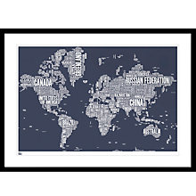 Buy Bold & Noble - World Map Framed Print, 84 x 115cm Online at johnlewis.com