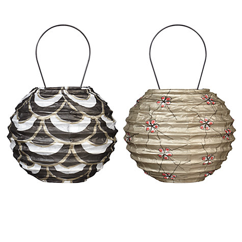 Buy John Lewis Paper Lantern Tree Decorations, Pack of 2 Online at johnlewis.com