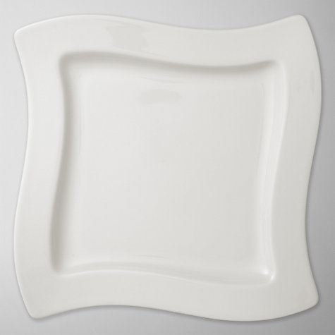 Buy Villeroy & Boch New Wave Square Salad Plate, Dia.24cm Online at johnlewis.com