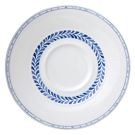 Buy Villeroy & Boch Farmhouse Touch Breakfast Saucer, Dia.19cm, White/Blue Online at johnlewis.com