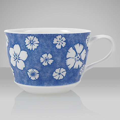 Buy Villeroy & Boch Farmhouse Touch Breakfast Cup,0.4L, Blue/White Online at johnlewis.com