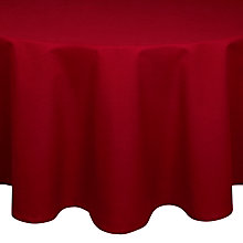 Buy House by John Lewis Oval Tablecloth, L240 x W140cm, Red Online at johnlewis.com