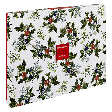 Buy Portmeirion The Holly and The Ivy Christmas Tree Plate, L33cm Online at johnlewis.com