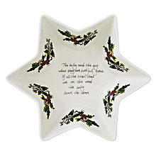 Buy Portmeirion The Holly and The Ivy Deep Star Dish, L20cm Online at johnlewis.com