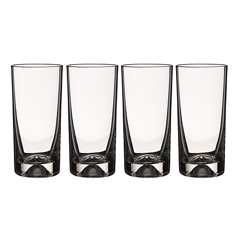 Buy John Lewis Casa Pyramid Highball Glasses, Box of 4, Clear Online at johnlewis.com