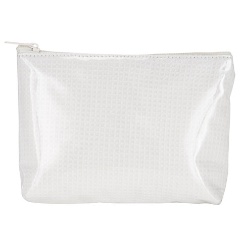 Buy John Lewis Waffle Print Cosmetics Purse, White Online at johnlewis.com