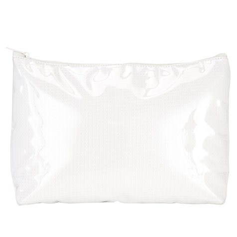 Buy John Lewis Waffle Print Toiletries Bag, White Online at johnlewis.com
